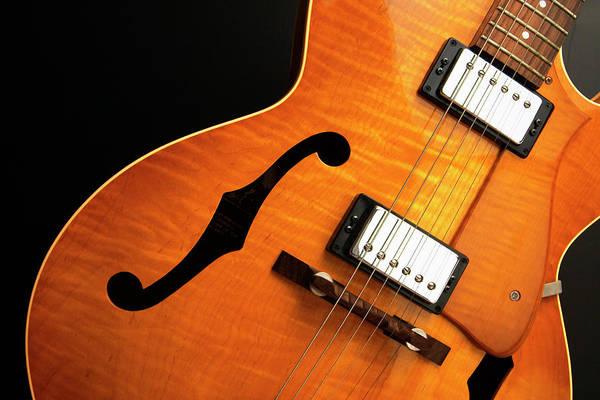 Cedar Tree Photograph - Jazz Guitar On Black by Andyl