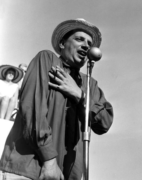 Jazz Music Photograph - Jazz Musician George Melly Singing Into by Popperfoto
