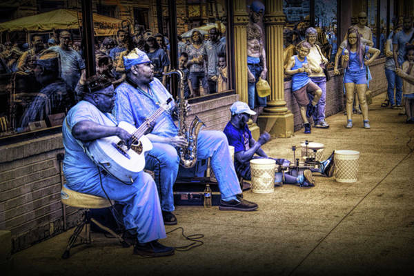 Photograph - Jazz Musician Street Buskers In Infrared by Randall Nyhof
