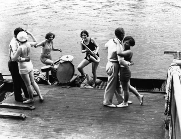 Jazz Music Photograph - Jazz On The River by Fox Photos
