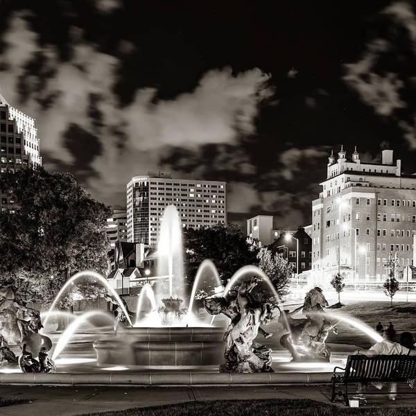 Country Club Plaza Photograph - J.c. Nichols K.c. Plaza Fountain - Sepia by Gregory Ballos