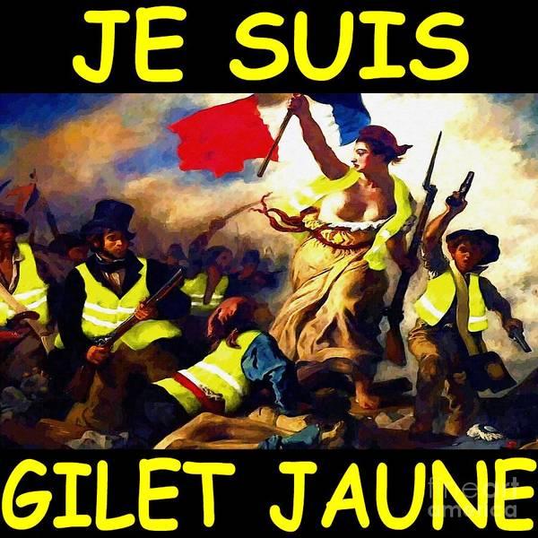 Francaise Digital Art - Je Suis Gilet Jaune by David Conin