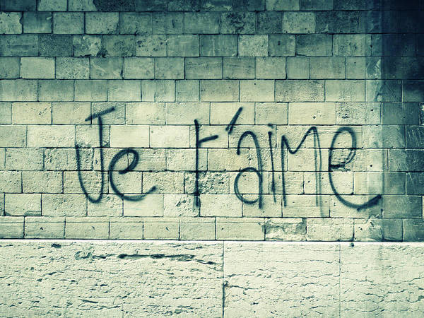 Graffiti Photograph - Je Taime by Will Grant