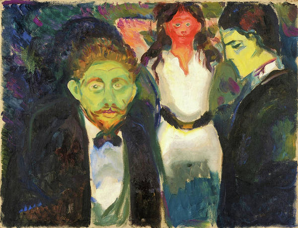 Wall Art - Painting - Jealousy - Digital Remastered Edition by Edvard Munch