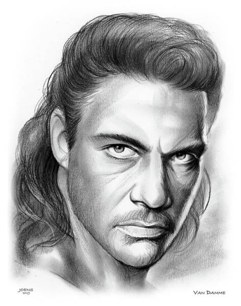 Wall Art - Drawing - Jean-claude Van Damme by Greg Joens