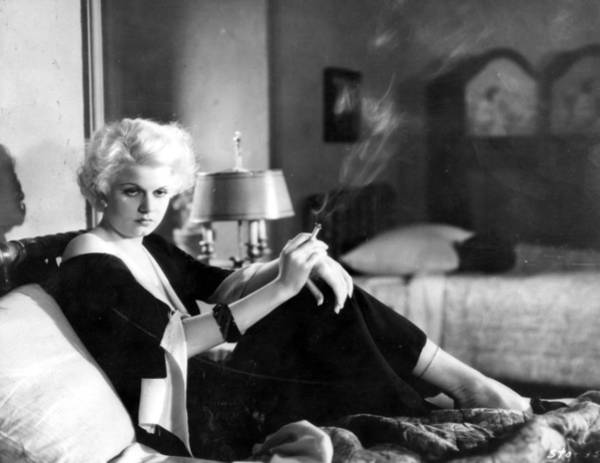Bleached Photograph - Jean Harlow by Evening Standard