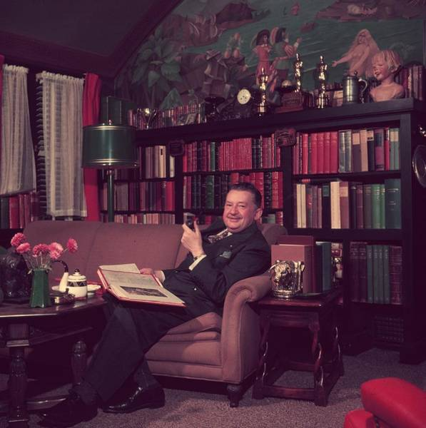 Furniture Photograph - Jean Hersholt by Slim Aarons