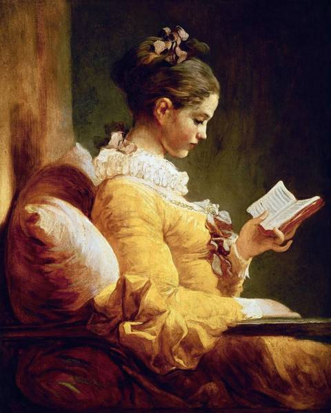 Wall Art - Painting - Jean-honore Fragonard Young Girl Reading, C. 1769, National Gallery Of Art, Washington Dc. by Jean-Honore Fragonard -1732-1806-