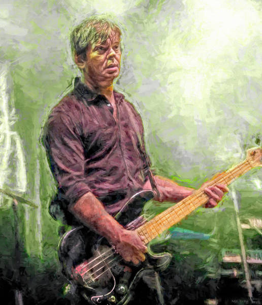 Wall Art - Mixed Media - Jean-jacques Burnel by Mal Bray