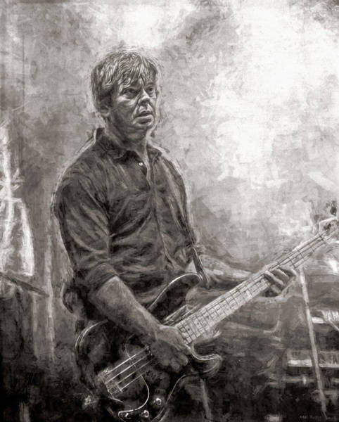 Wall Art - Mixed Media - Jean-jacques Burnel The Stranglers by Mal Bray