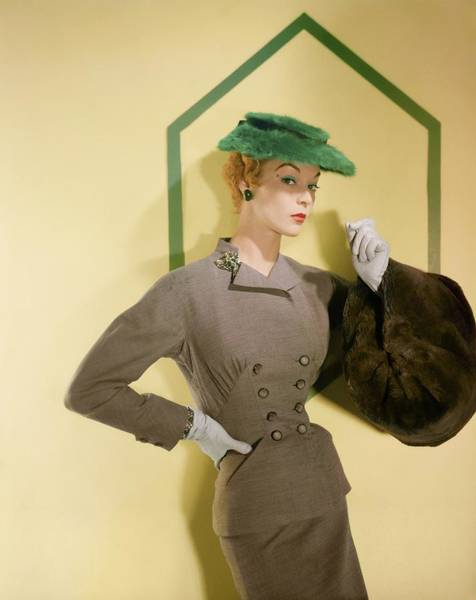 Photograph - Jean Patchett In A Deitsch & Conti Suit by Horst P. Horst