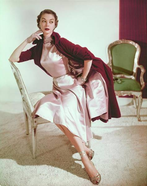Photograph - Jean Patchett In A Trigere Ensemble by Horst P. Horst