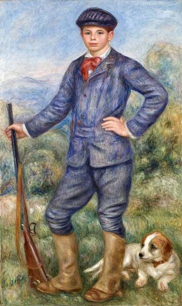 Painting - Jean Renoir As A Hunter by Pierre-Auguste Renoir