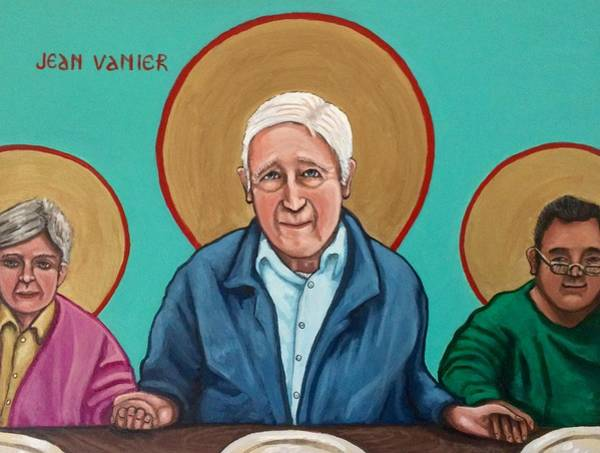 Painting - Jean Vanier by Kelly Latimore
