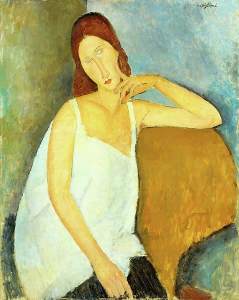 Modigliani Painting - Jeanne Hebuterne - Digital Remastered Edition by Amedeo Modigliani