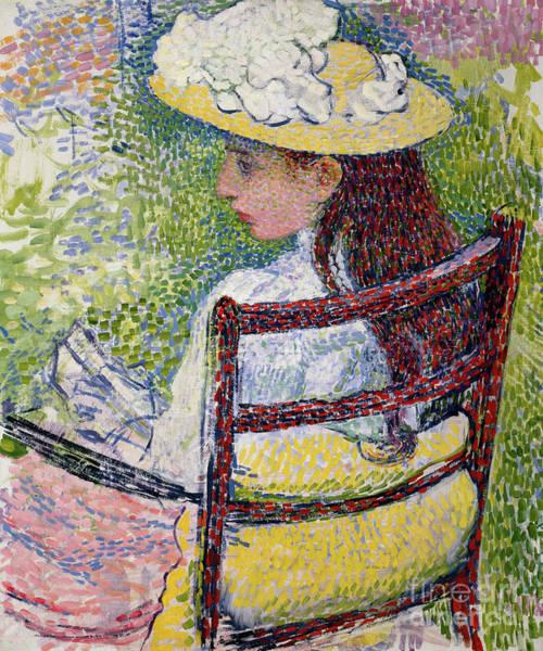 Wall Art - Painting - Jeanne Pissarro, 1895 by Theo van Rysselberghe