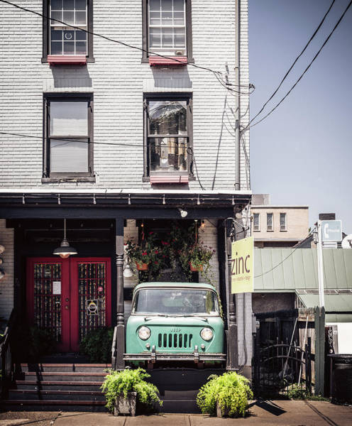 Photograph - Jeep On The Porch by Steve Stanger