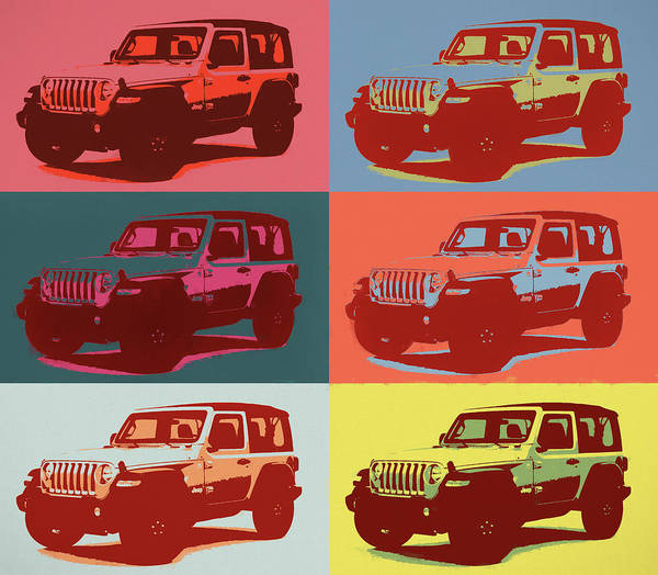 Painting - Jeep Wrangler Pop Art by Dan Sproul