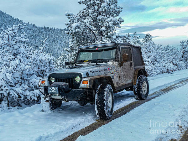 Photograph - Jeepin In The Snow by Tony Baca