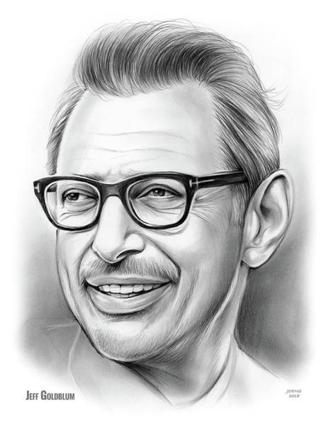 Wall Art - Drawing - Jeff Goldblum 30dec18 by Greg Joens