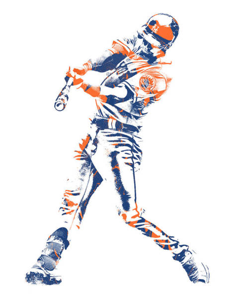 Wall Art - Mixed Media - Jeff Mcneil New York Mets Pixel Art 1 by Joe Hamilton