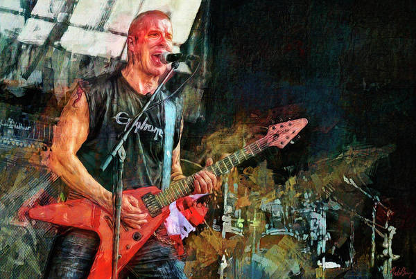 Thrash Metal Wall Art - Mixed Media - Jeff Waters, Annihilator by Mal Bray