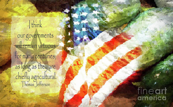 Declaration Of Independence Digital Art - Jefferson's Farm by Anita Faye