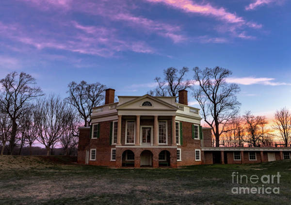 Wall Art - Photograph - Jeffersons Poplar Forest Sunrise by Norma Brandsberg