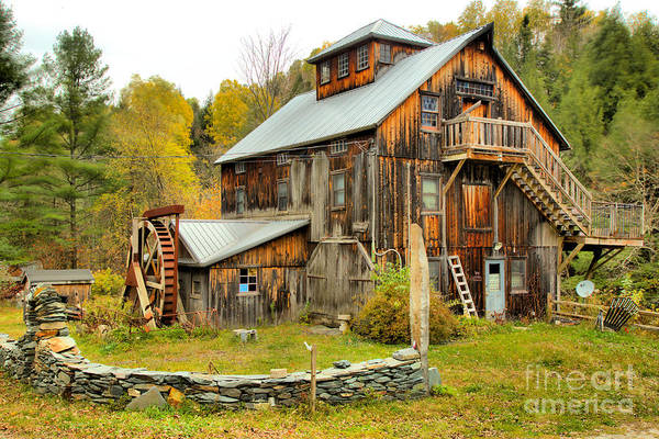 Photograph - Jeffersonville Vermont Grist Mill by Adam Jewell