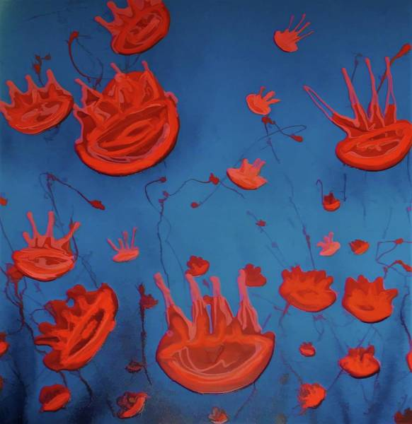 Painting - Jelly Fish by Joan Stratton