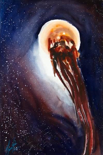 Jellyfish Painting - Jellyfish 11 by James Nyika