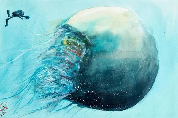 Jellyfish Painting - Jellyfish 4 by James Nyika