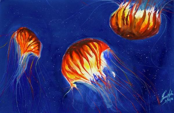 Jellyfish Painting - Jellyfish 7 by James Nyika