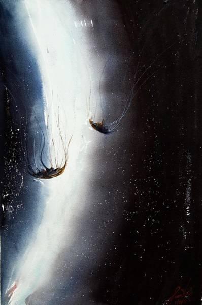 Jellyfish Painting - Jellyfish 9 by James Nyika