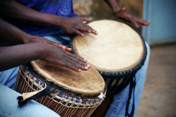 Photograph - Jembe Players by Peeterv
