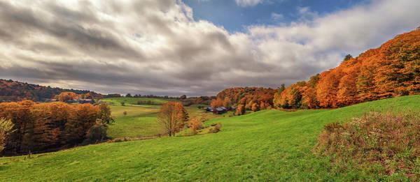Photograph - Jenne Farm Autumn Panorama by Kristen Wilkinson