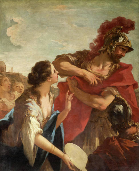 Believers Painting - Jephthah Returning From Battle Is Greeted By His Daughter, 1713 by Giovanni Antonio Pellegrini