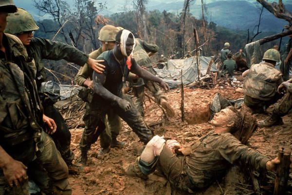 Injury Wall Art - Photograph - Jeremiah Purdie by Larry Burrows