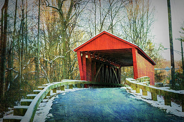 Kingsville Photograph - Jericho Covered Bridge Textures by Brian Wallace