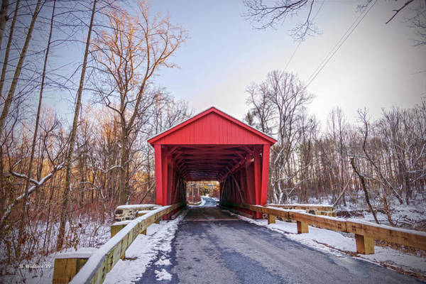 Kingsville Photograph - Jericho Covered Bridge Wide View by Brian Wallace