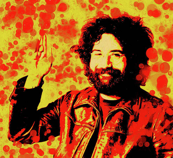 Wall Art - Painting - Jerry Garcia Pop by Dan Sproul