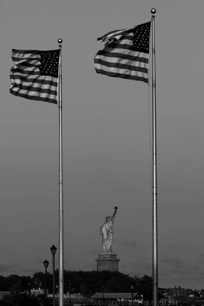 Wall Art - Photograph - Jersey City, New Jersey, Usa - Flags by Panoramic Images