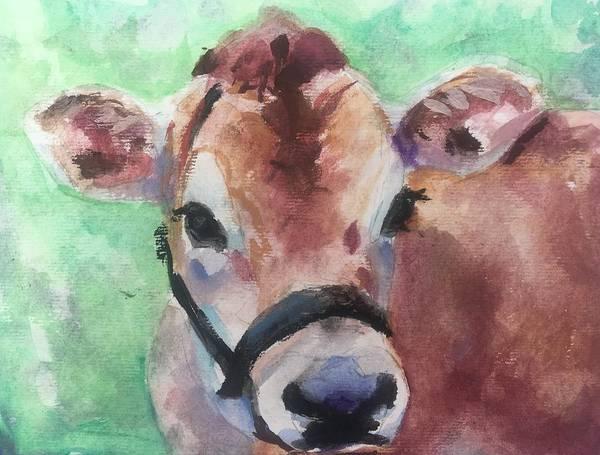Wall Art - Painting - Jersey Cow by Susan Elizabeth Jones