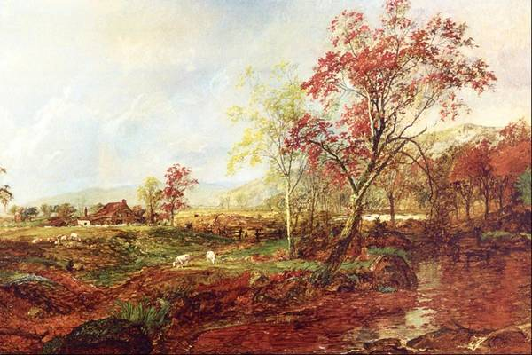 Meadowlands Painting - Jersey Meadowland by Jasper F Cropsey