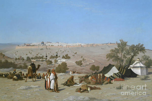 Wall Art - Painting - Jerusalem From The Mount Of Olives, 1880 by Charles Theodore Frere