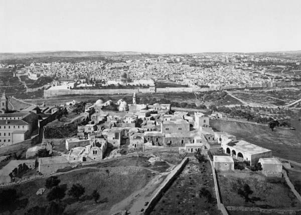 Damascus Photograph - Jerusalem View 1890  by Munir Alawi