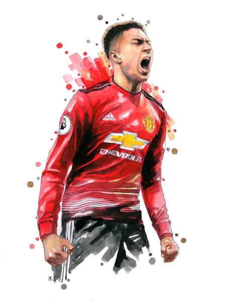 Manchester Wall Art - Painting - Jesse Lingard, Manchester United by Wachira Kacharat