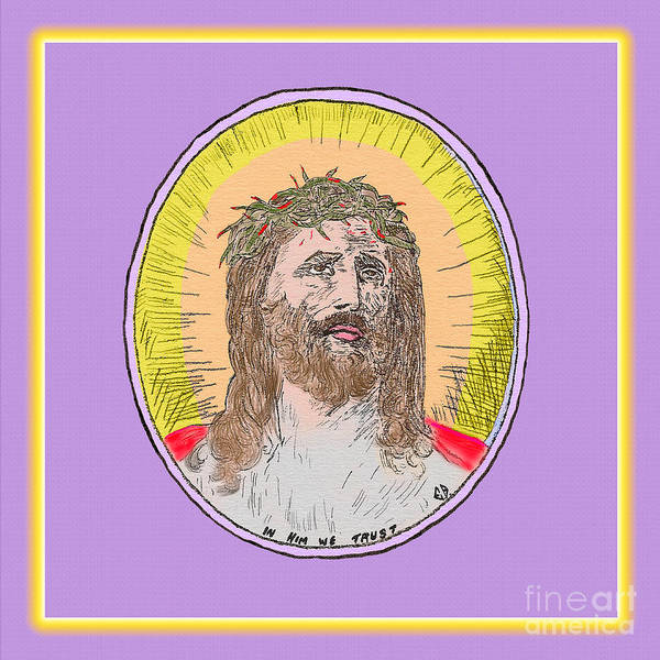 Painting - Jesus And Glow by Donna L Munro