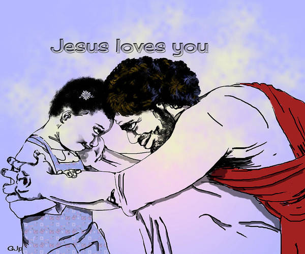 Wall Art - Digital Art - Jesus And Me II by Pamela Benjamin