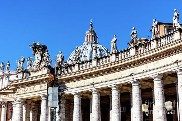Photograph - Jesus And The Apostles On Saint Peter's Basilica In Vatican City by John Rizzuto